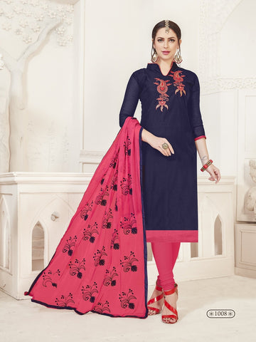 Party Wear Royal Blue Color Modal Silk Straight Cut Suit