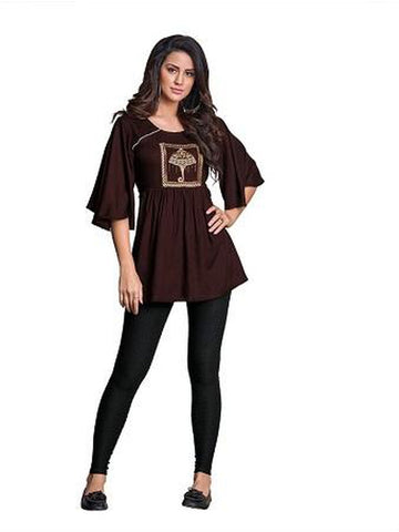 Designer Dark Brown Color Summer Top
