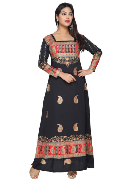 Black and Gold Kaftan Kurti