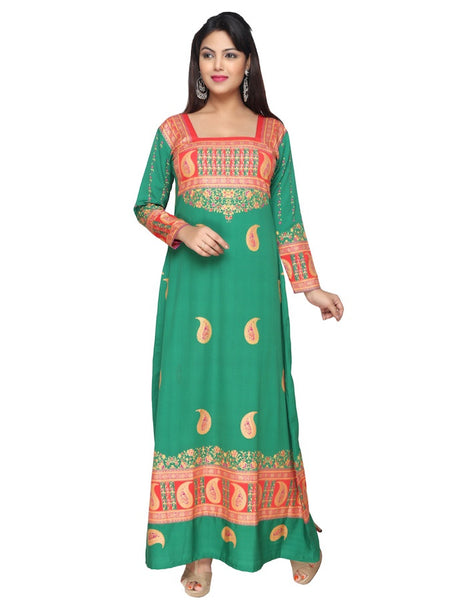 Traditional Green Kaftan Kurti