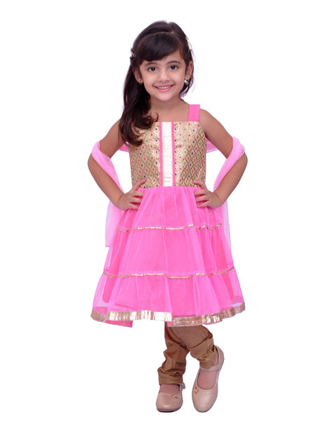 Pink Girls Dress - PurpleTulsi.com  - 1