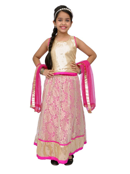 Fuchsia Girls Dress - PurpleTulsi.com  - 1