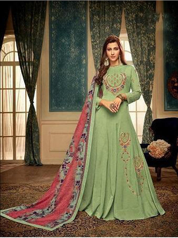 Designer Green Color Embroidered Anarkali Suit