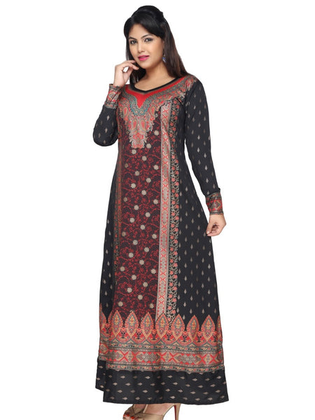 Black and Red Kaftan Kurti