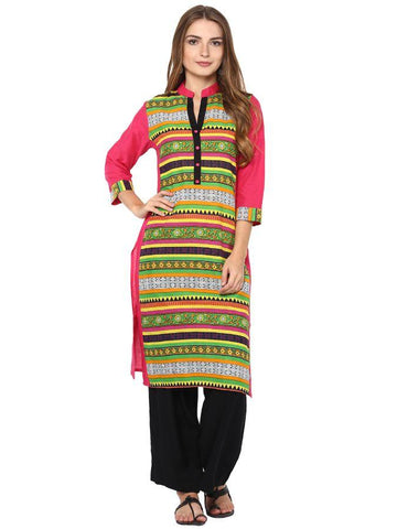 Trendy and stylish printed kurti in Green