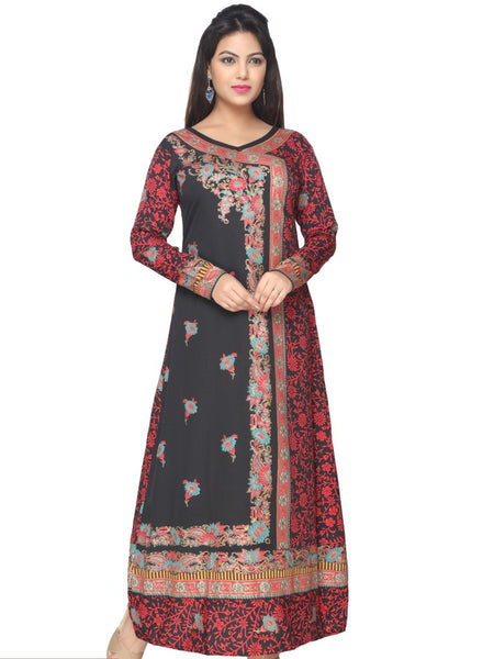 Black and Maroon Kaftan Kurti