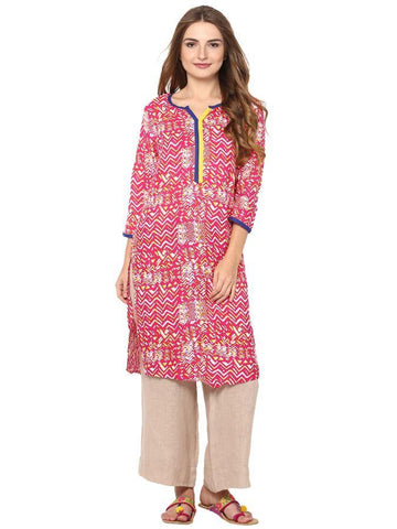 Trendy and stylish Pink kurti