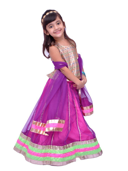 Purple Girls Dress - PurpleTulsi.com  - 1