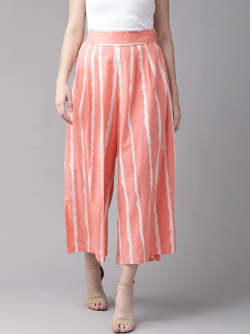 Beautiful Cotton Printed Pink Palazzo Pant