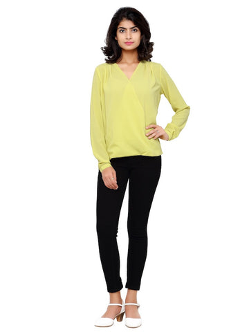 Lime Green Fashion Top
