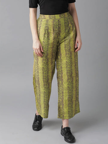 Beautiful Rayon Printed Green Color Palazzo Pant