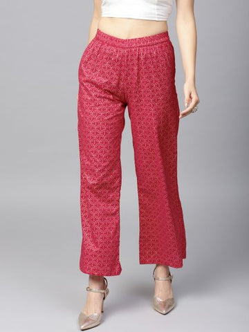 Beautiful Cotton Magenta Palazzo Pant