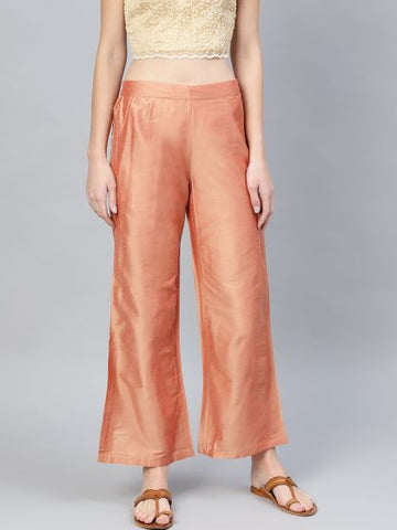 Beautiful Silk Rose Gold Palazzo Pant