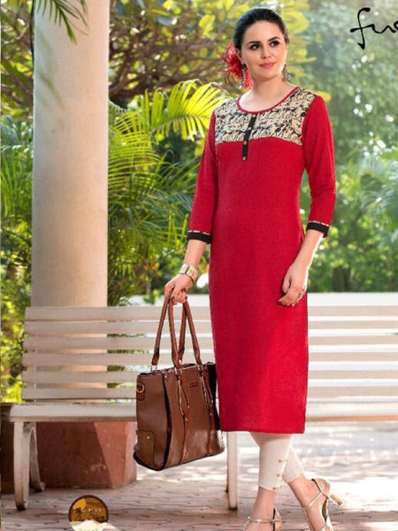 Crimson Red South Cotton Kurti