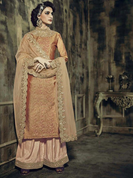 Peach Premium Anarkali Suit