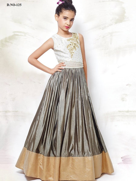 White and Silver Gown - PurpleTulsi.com