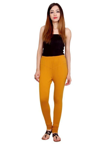 Beautiful Solid Yellow Color Strechable Leggings