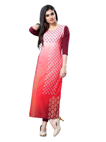 Designer and Beautiful Crepe Straight Cut Kurti
