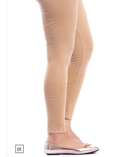 Skin Colour Designer Leggings - PurpleTulsi.com