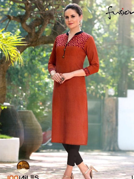 Brown South Cotton Kurti