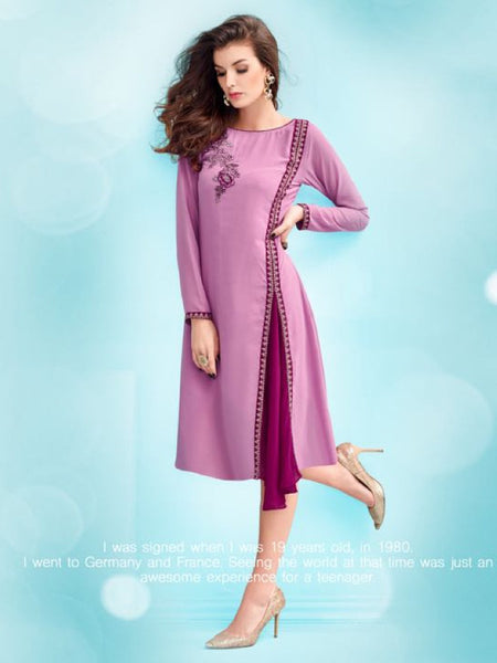Orchid Purple Kurti with Inner