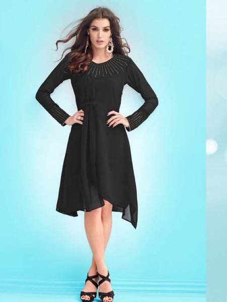 Dark Slate Kurti with Inner