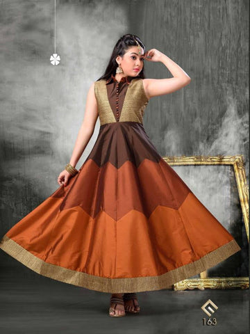 Gorgeous Shades of Brown Kids Dress
