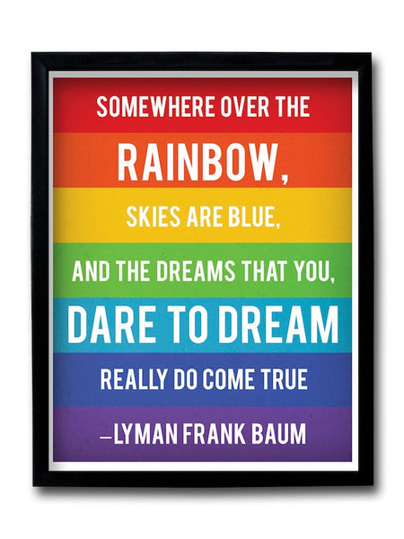 Dream Quote Rainbow Framed Art