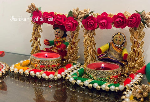 Tealight Candle Holder Doll Set For Pooja Home Decoration