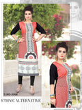 Beautiful Casual Multi Color Printed American Crepe Long Straight Cut Kurti