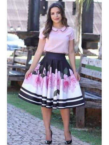 Beautiful Baby Pink Color Fancy Western Top & Skirt