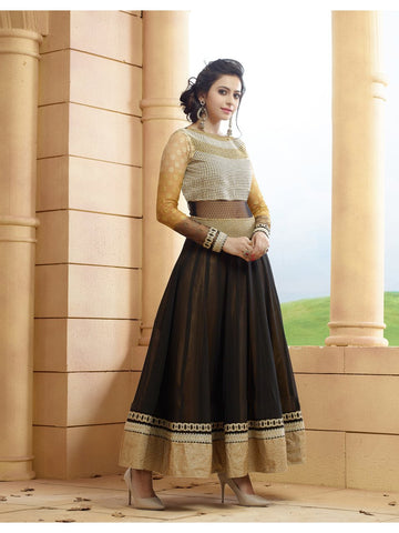 Beautiful and Designer Black Color Anarkali Suit