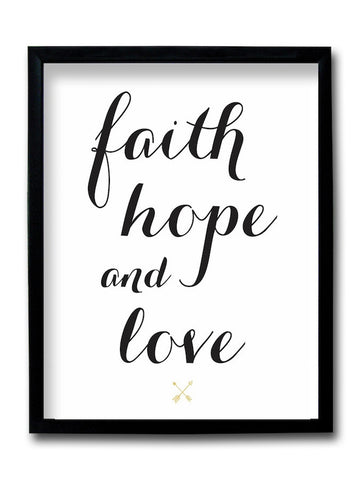 Faith Hope And Love Framed Art