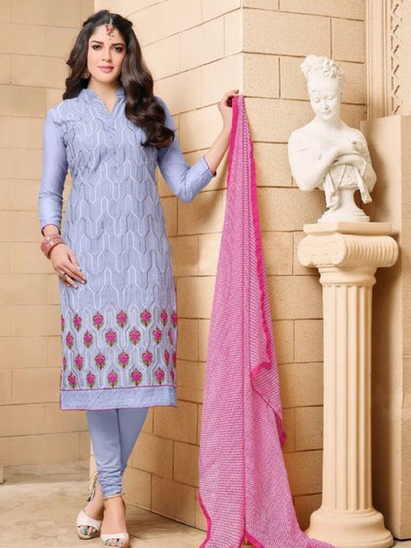 Cloud Grey and Bluish Pink Straight Cut Suit