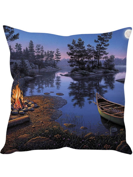 River Print Designer Cushion Cover