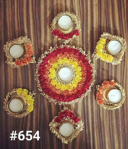 Tealight Candle Holder Set For Pooja Home Decoration