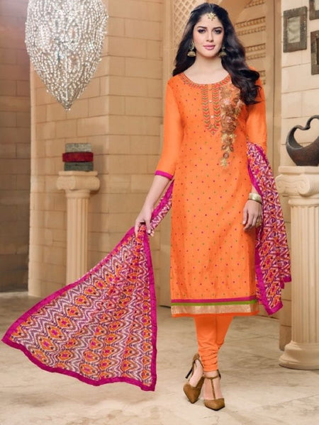 Tangerine Orange and Pink Straight Cut Suit