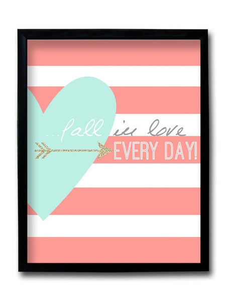Fall In Love Framed Art