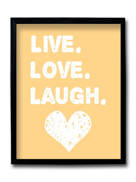 Live Love Laugh Framed Art