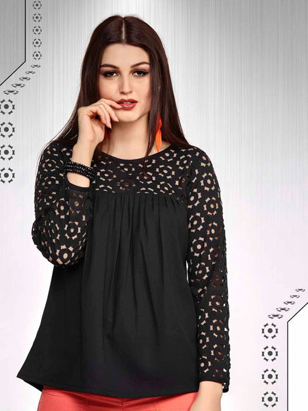 Black Fashion Top - PurpleTulsi.com  - 1