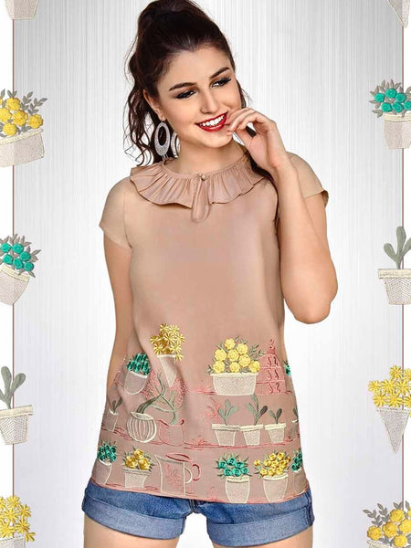 Peach Fashion Top - PurpleTulsi.com  - 1