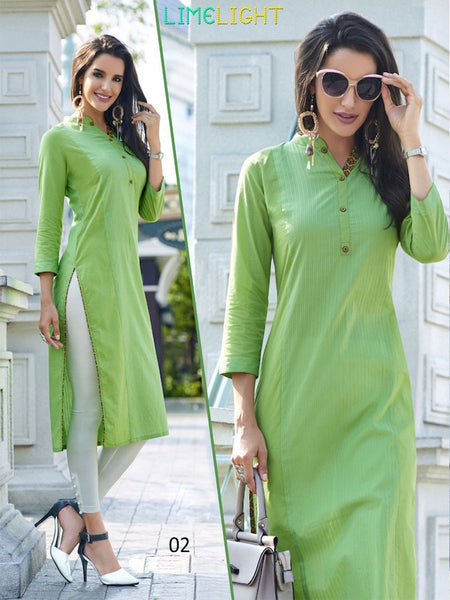 Mint Green Cotton Kurti