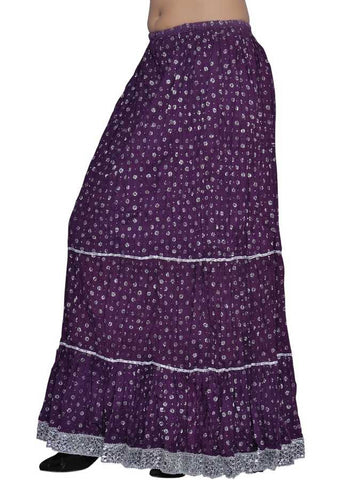Purple cotton skirt - PurpleTulsi.com