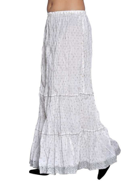 White cotton skirt - PurpleTulsi.com