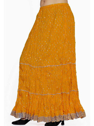 Yellow cotton skirt - PurpleTulsi.com