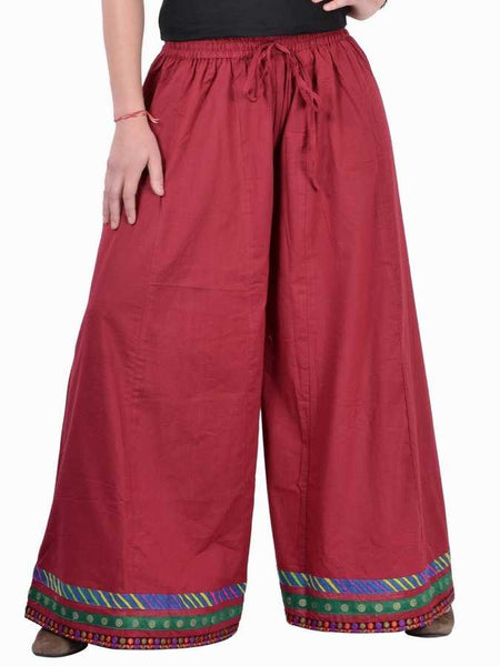 Red divided skirt - PurpleTulsi.com  - 1