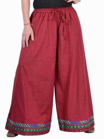 Red divided skirt - PurpleTulsi.com
