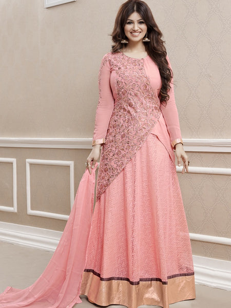 Castle Peach Anarkali Suit - PurpleTulsi.com  - 1
