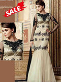 White and Black Premium Anarkali Suit