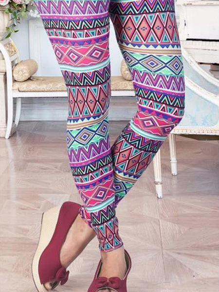 Multicolour Lycra Leggings